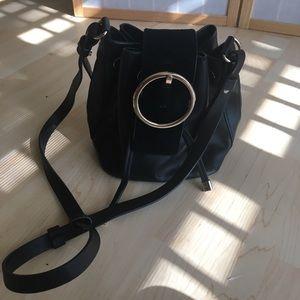 Cute buckle mini bucket crossbody bag!